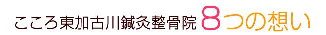こころ東加古川鍼灸整骨院8つの想い